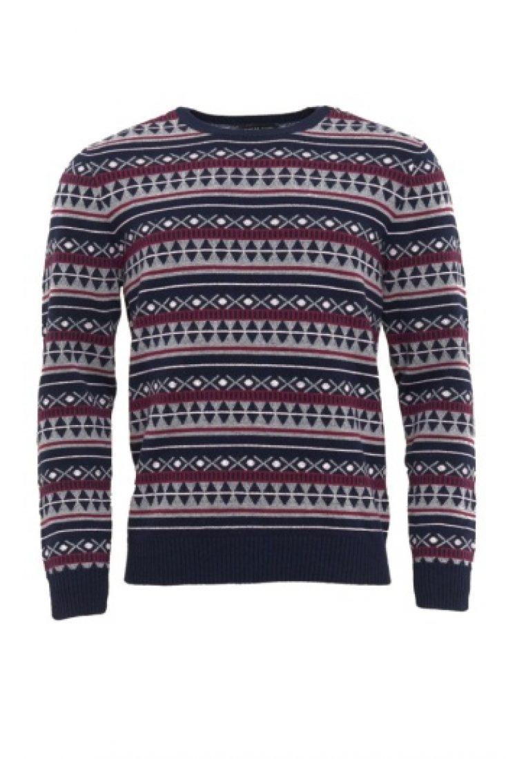 Vzorovaný pánský svetr