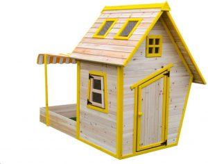 Marimex Dětský dřevěný domeček s pískovištěm Flinky